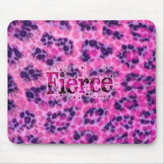Fierce Cheetah Print Mouse Pad