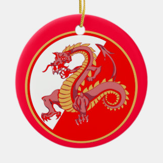 Fierce Chinese Dragon Christmas Ornament