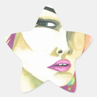 """""""Fierce"""" Crystal Cross Watercolors Star Sticker"""