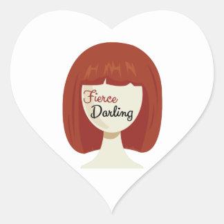 Fierce Darling Heart Stickers
