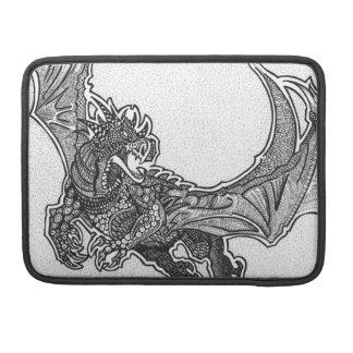 Fierce Dragon in flight Sleeve For MacBook Pro