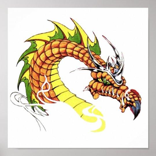 Fierce Dragon Poster