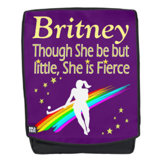 FIERCE FIELD HOCKEY PURPLE PERSONALIZED BACK PACK