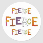 Fierce fun colorful art words strong bold brave stickers