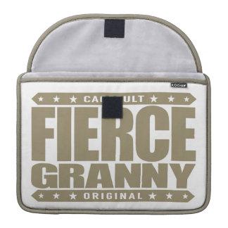 FIERCE GRANNY - Badass Senior and Fearless Warrior Sleeve For MacBook Pro