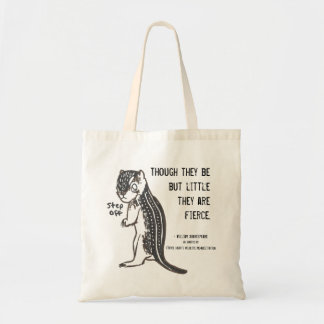 Fierce Ground Squrrel w/ Quote Budget Tote Bag