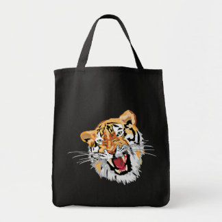 Fierce Growling Tiger Canvas Bags