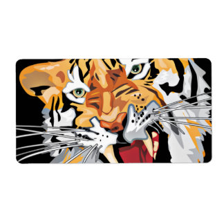 Fierce Growling Tiger Close Up Stickers