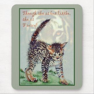 Fierce Kitty Mouse Pad