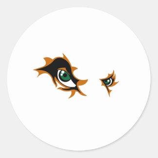Fierce Lion Eyes Classic Round Sticker