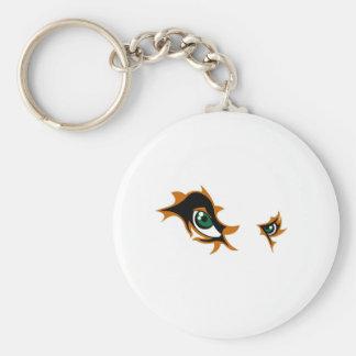 Fierce Lion Eyes Keychain