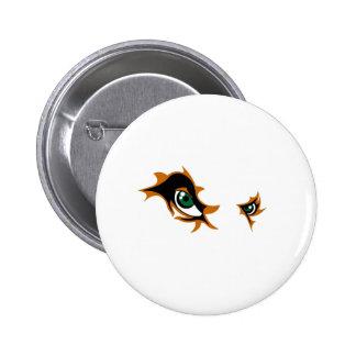 Fierce Lion Eyes Pinback Button