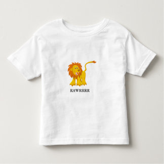 Fierce Lion with Customizable Text Toddler T-shirt