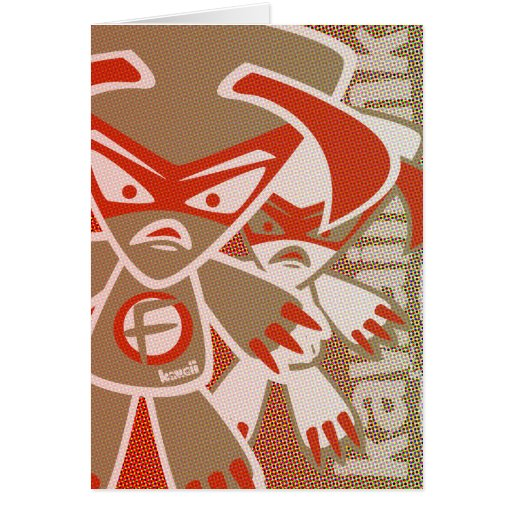 Fierce Mascot Greeting Card