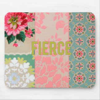 Fierce mousepad floral vintage wallpaper