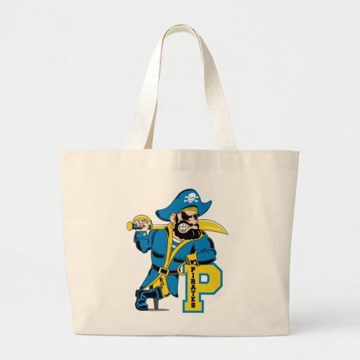 Fierce Pirate Captain Jumbo Tote Bag