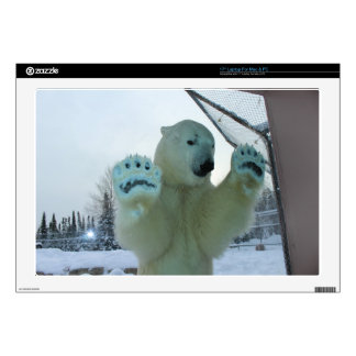 "Fierce Polar Bear Decal For 17"" Laptop"