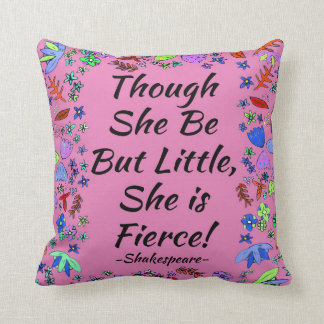 Fierce Quote Throw Pillow