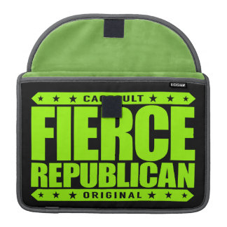 FIERCE REPUBLICAN - Fearless Conservative Warrior Sleeves For MacBooks