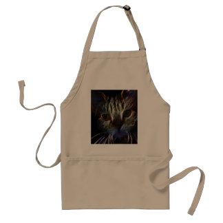 Fierce robotic cat adult apron