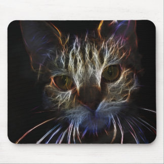 Fierce robotic cat mouse pad