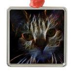 Fierce robotic cat ornaments