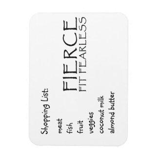 Fierce Shopping List Flexible Magnets