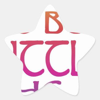 Fierce Star Sticker