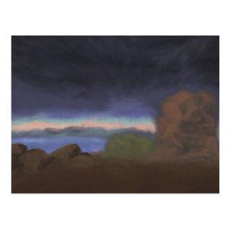 Fierce Storm over Lake, Postcard