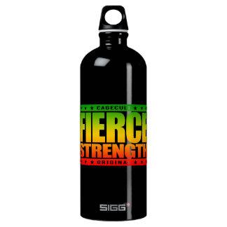 FIERCE STRENGTH - Wild Brazilian Jiu-Jitsu Chimp Water Bottle