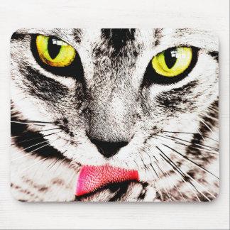 Fierce Tabby Cat Mousepad