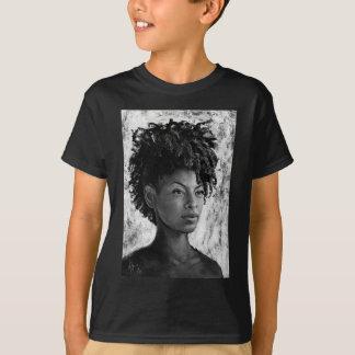 Fierce - Textured Portrait of a Black Woman T-Shirt
