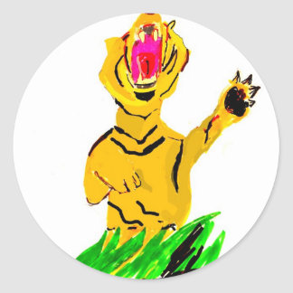 Fierce Tiger Classic Round Sticker