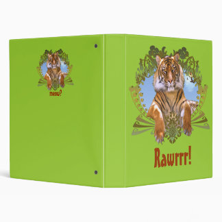 Fierce Tiger Crest Endangered, Rawrrr! 3 Ring Binder