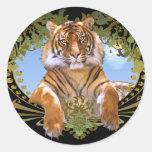Fierce Tiger Crest Endangered Stickers