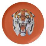 Fierce Tiger Dinner Plates