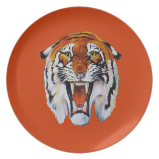 Fierce Tiger Melamine Plate