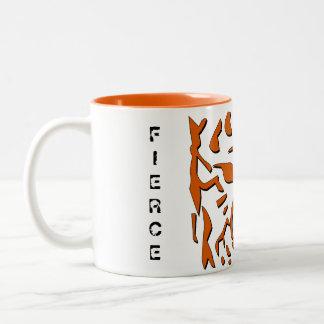 Fierce Tiger Mug in Orange