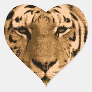 Fierce Tiger Heart Stickers