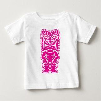 fierce tiki hot pink warrior tribal god baby T-Shirt