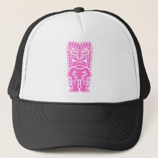 fierce tiki soft pink tribal totem trucker hat