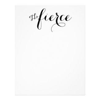 Fierce Typography Letterhead