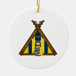 Fierce Viking and Tent Ornament