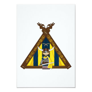 Fierce Viking and Tent RSVP Card