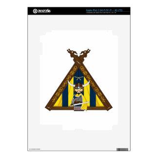 Fierce Vikings and Tent ipad Skin