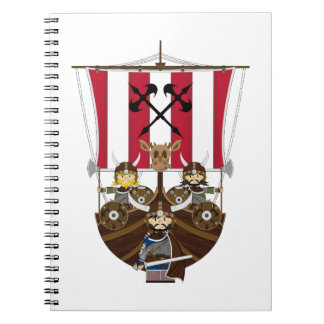Fierce Vikings on Longship Notebook