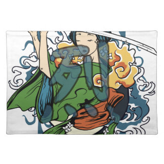 Fierce Warrior Cloth Placemat