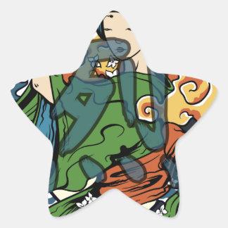 Fierce Warrior Star Sticker
