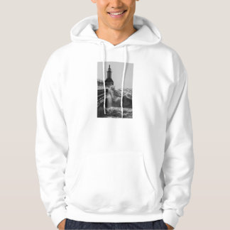Fierce Waves At St Joseph Grayscale Hoodie