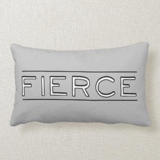 Fierce | Word Art Lumbar Pillow